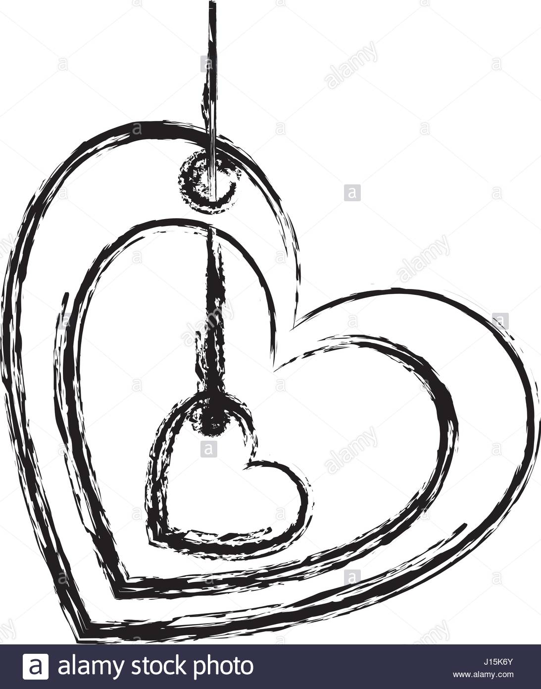 1093x1390 Blurred Sketch Silhouette Love Heart Figure Hanging For Decoration