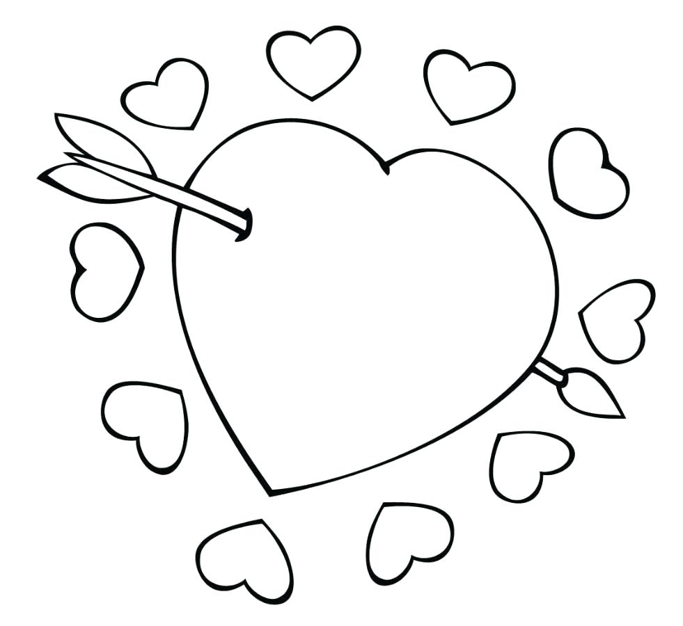981x900 Coloring Small Heart Coloring Pages