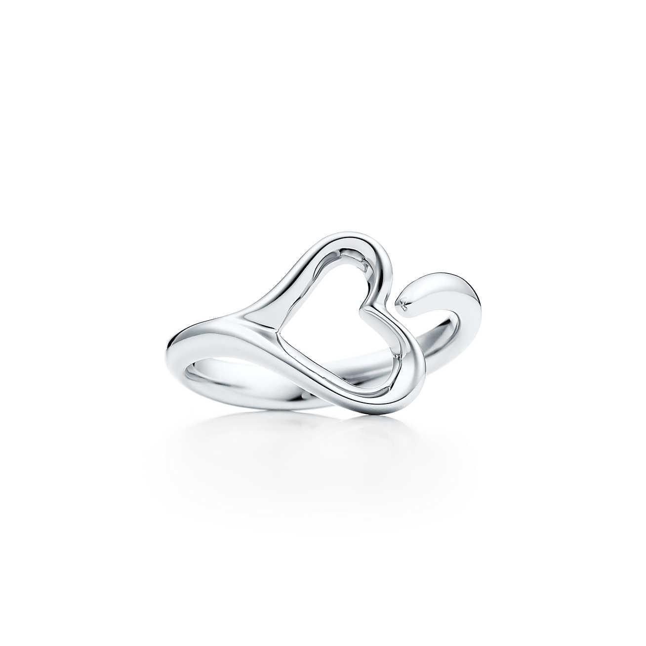 1308x1308 Elsa Open Heart Ring In Sterling Silver, Small. Tiffany