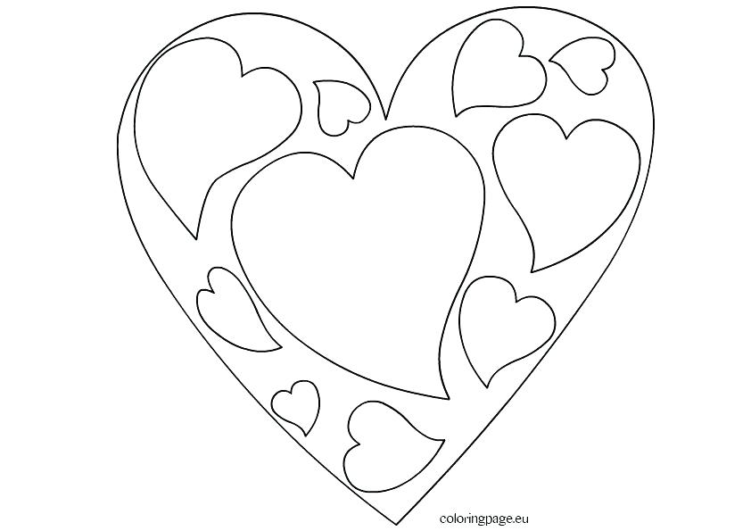 842x595 Heart Coloring Book Together With Small Heart Coloring Pages