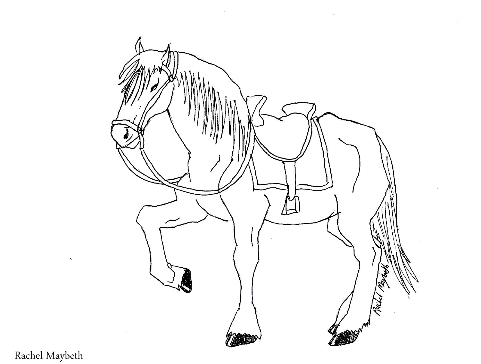 1600x1212 Rachel Maybeth Free Horse, Unicorn, And Pegasus Coloring Pages