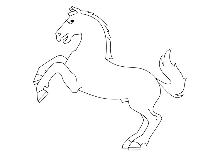 750x531 Coloring Page Horse On Haunches