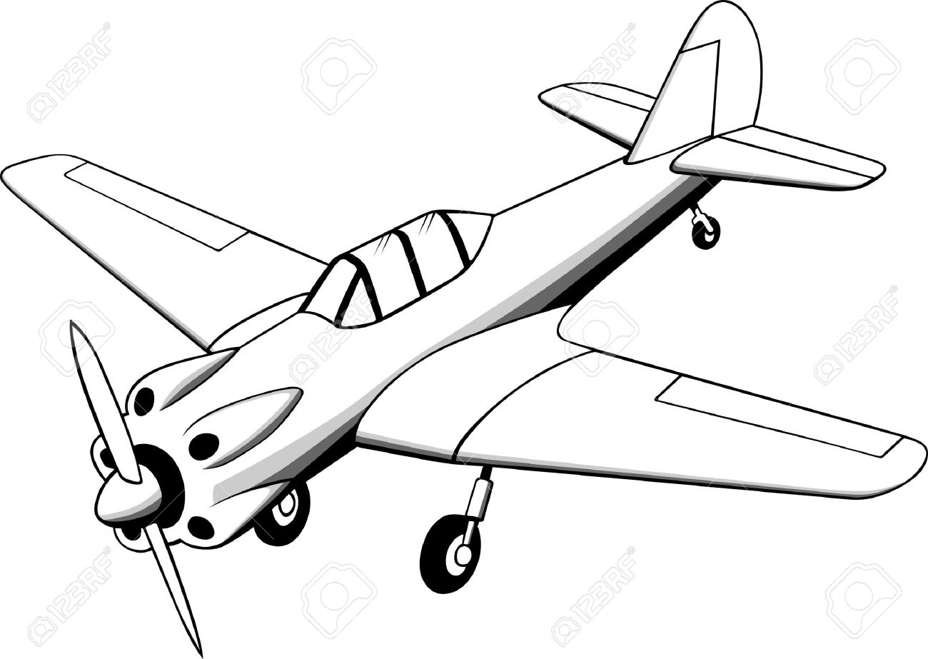 1300x923 Little Old Plane On White Royalty Free Cliparts, Vectors,