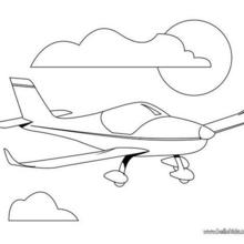 220x220 Plane Coloring Pages