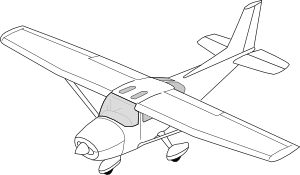 300x175 Plane Clip Art