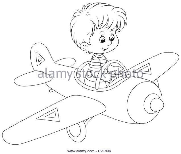 637x540 Cartoon Pilot Flies Small Plane Stock Photos Amp Cartoon Pilot Flies