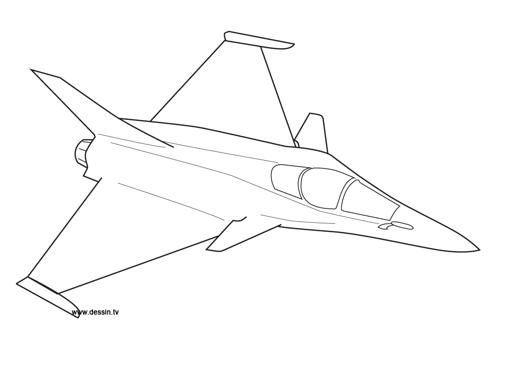 1024x768 Coloring Fighter Plane