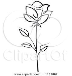 236x246 Clipart Of Black And White Rose Flowers