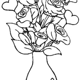 268x268 Small Rose Coloring Page Kids Drawing And Coloring Pages