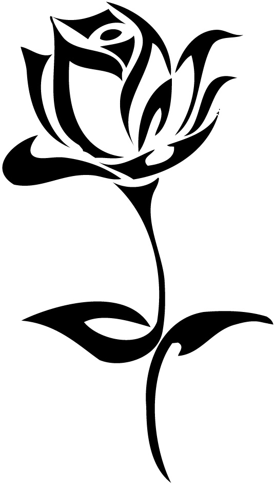 534x953 26 Beautiful Tribal Rose Tattoos Only Tribal