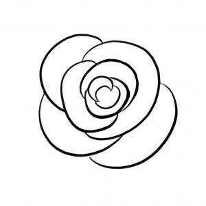 300x300 Drawings Tumblr Google Search. Drawing Of A Small Rose. Pin Drawn
