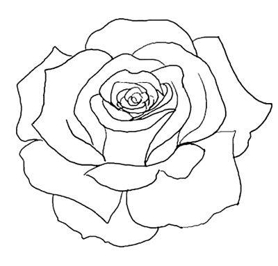 400x382 Flower Outline Tattoos Rose Outline Tattoo Stencil Line Art