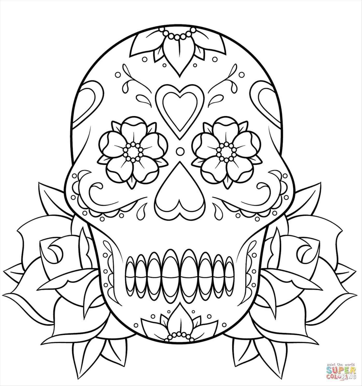 1501x1601 Skull Rose Drawing Outline Tattoos Template Small Tattoo Black