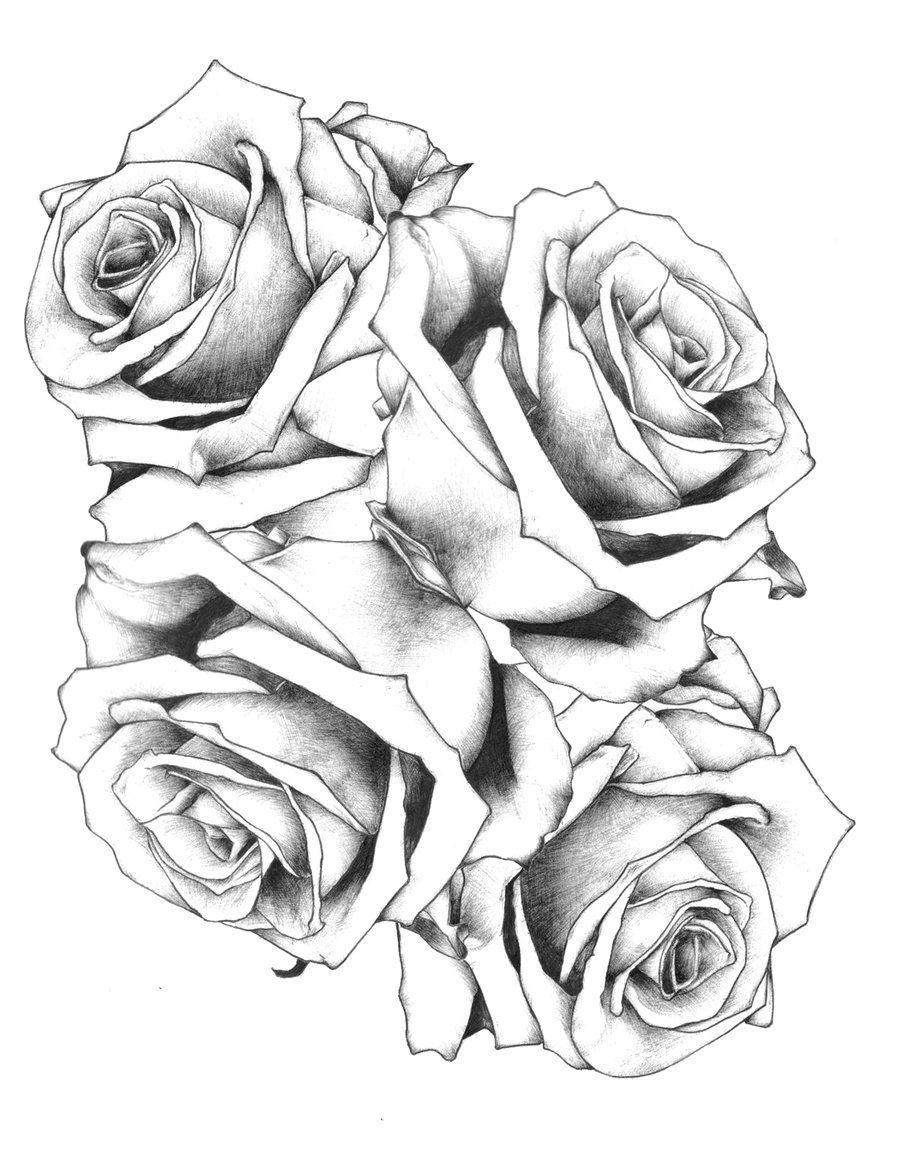 900x1165 Black Rose Vines Tattoo Design