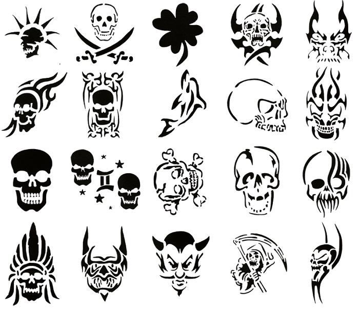700x609 Modern Tattoo Stencils Skull Tattoo Stencil Designs ~ Cvcaz