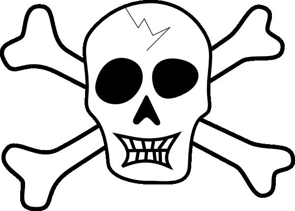 600x429 Pirate Skull And Bones Clip Art