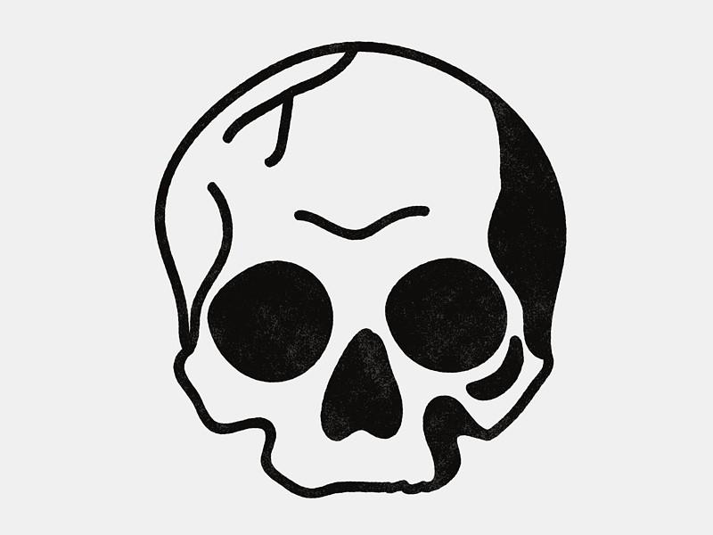 800x600 Simple Blackwork Skull Simple Illustration, Easter And Illustrations