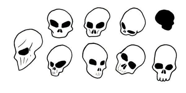 600x302 Simple Skulls By Zacnewton