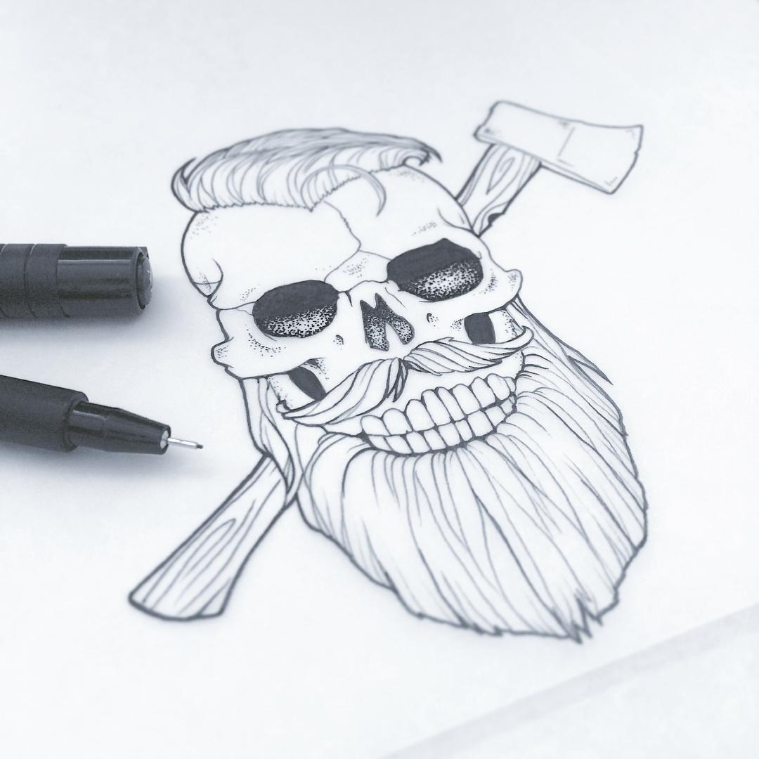 1080x1080 Skull Design By Aurelie Maron
