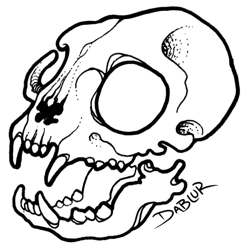 800x800 Small Cat Skull Tattoo Flash Posters By Dablurart Redbubble