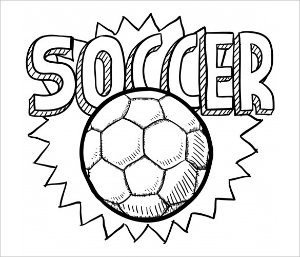 Small Soccer Ball Drawing