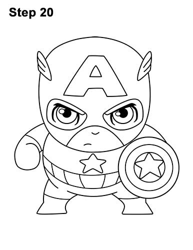 386x500 How To Draw Captain America (Mini)