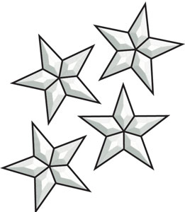 261x300 Small Star Bevel Clusters Assorted Objects Delphi Glass