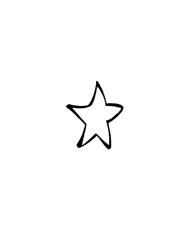 765x937 Small Star Wood Mount Stamp C1 5711b