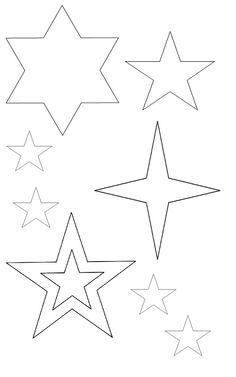 236x377 Star Templates Christmaskerst Star Template