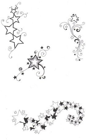 290x459 Sketches Of Stars And Hearts Star Designs By ~crazyeyedbuffalo