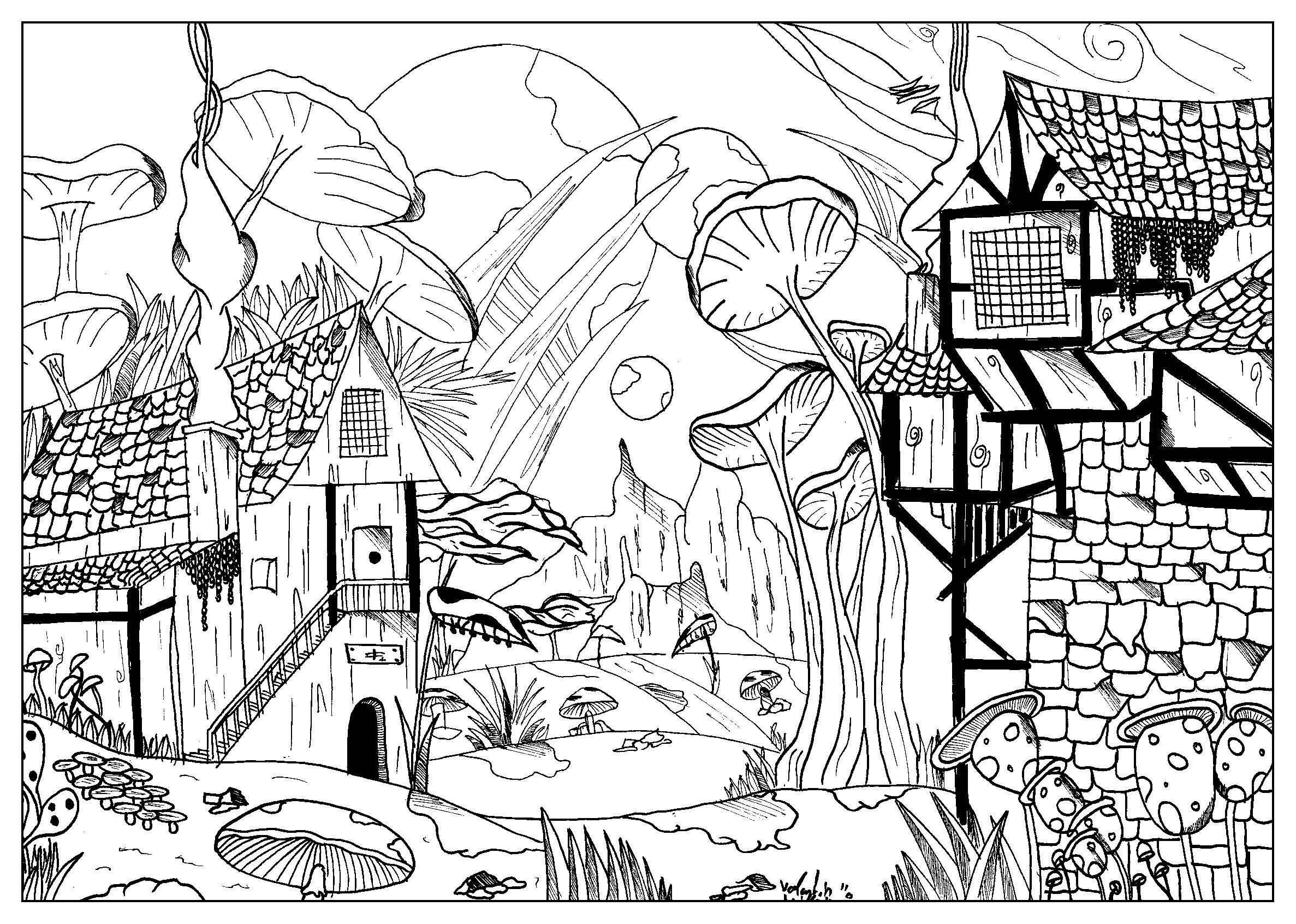 2374x1692 Landscape by valentin Myths amp legends