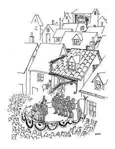 232x300 Old Village Drawings Fine Art America