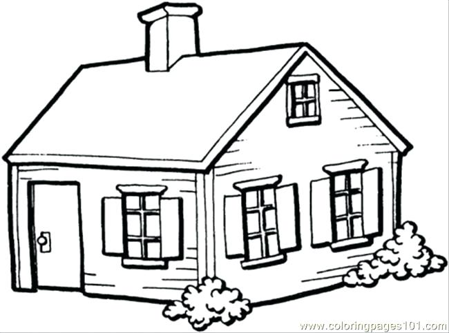 650x483 Pictures Of Houses To Color Small House In The Village Coloring