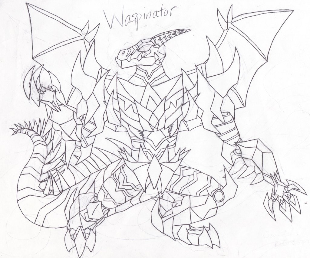 1024x853 Tfp Waspinator (Without Color) By Tigressa101
