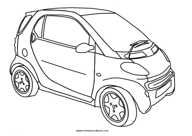 728x515 Car Coloring Page