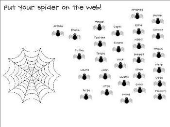 350x263 Halloween Spider Attendance For Smartboard Attendance, Spider