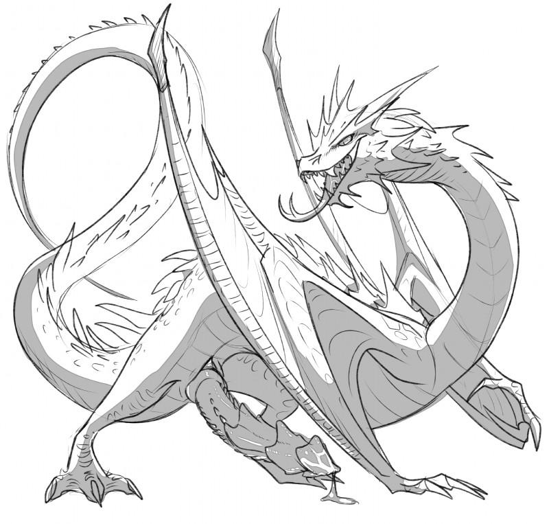Smaug Dragon Drawing