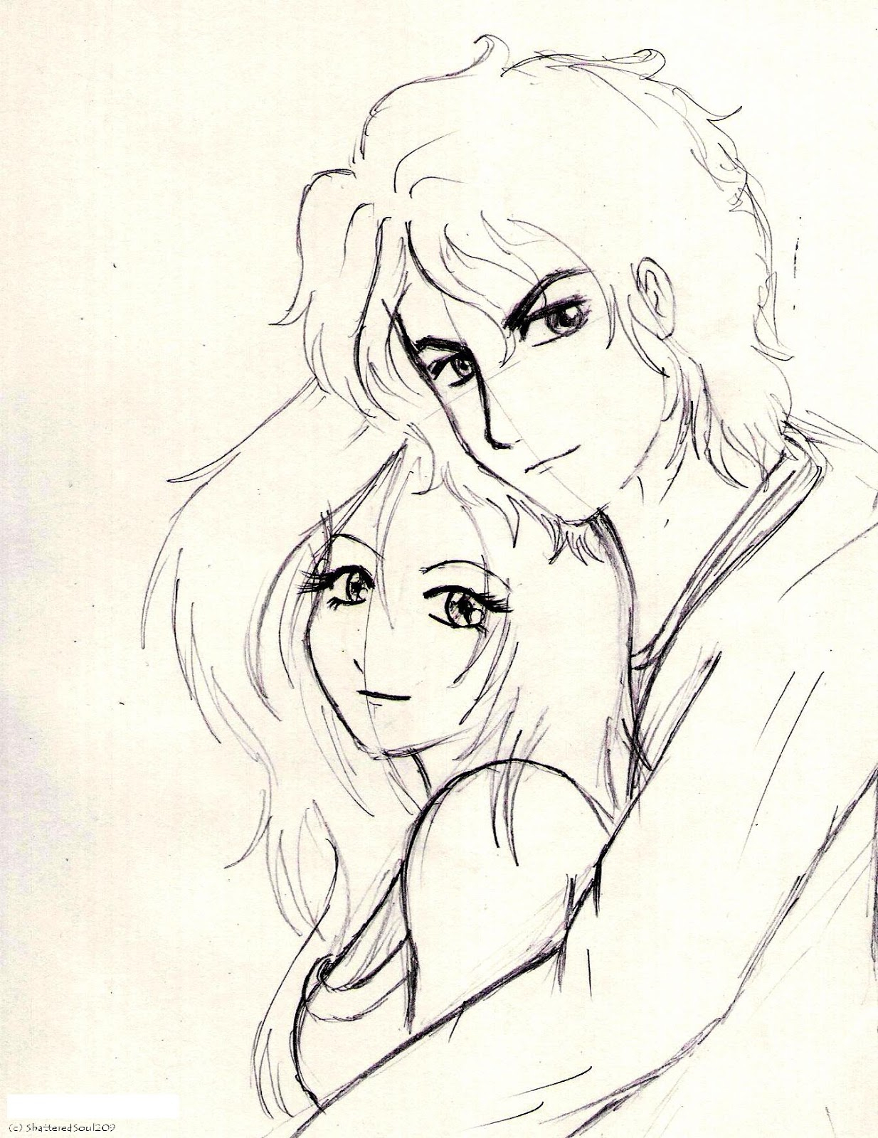 1234x1600 Drawing Of A Girl And Boy In Love Girl Smile Drawing