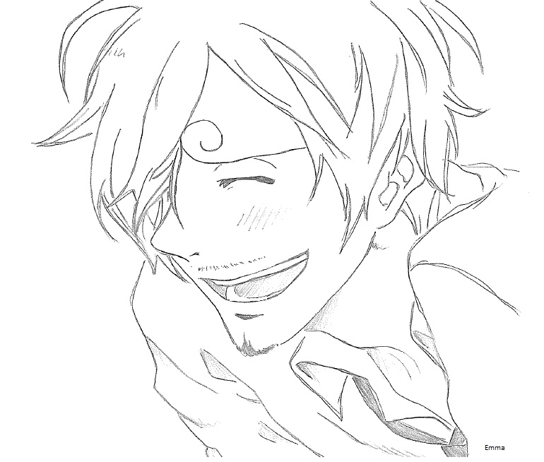 770x654 Sanji's Smile By Emma Is Drawing