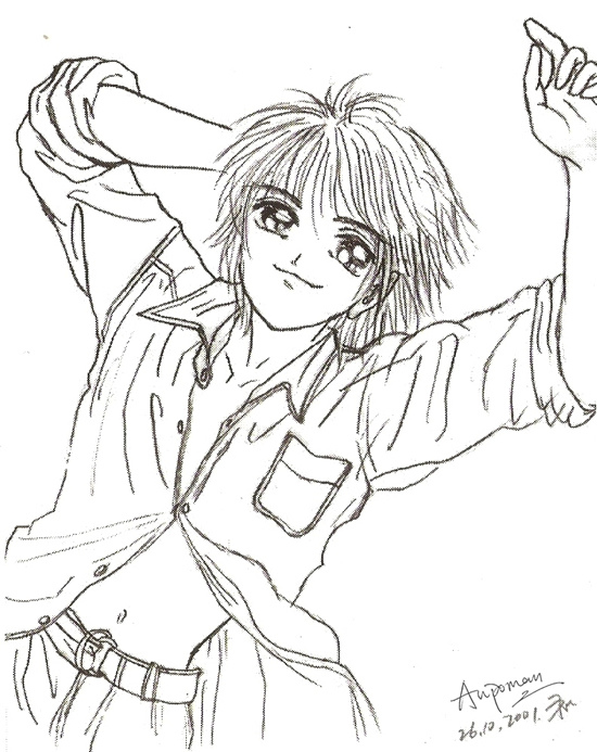 550x693 Aupoman Cartoon Drawing Handsome Boy Smile Cartoon Pencil