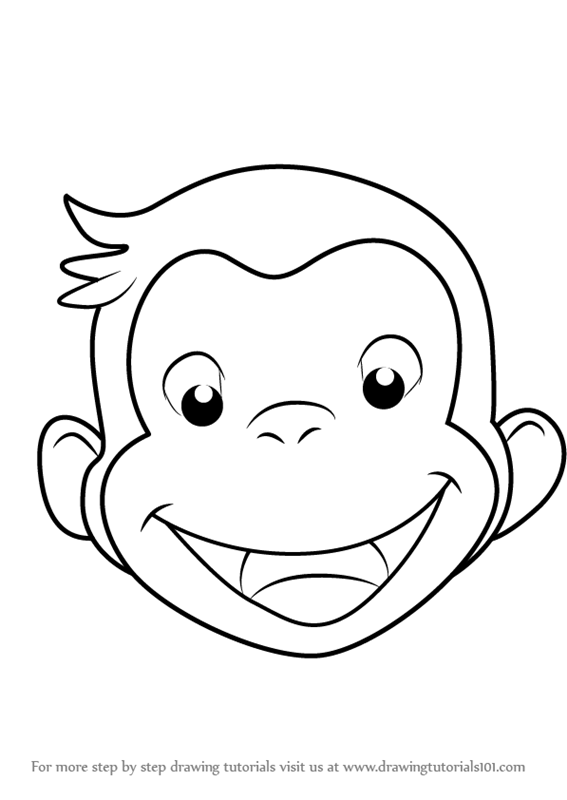 567x800 Learn How To Draw Curious George Face (Curious George) Step By