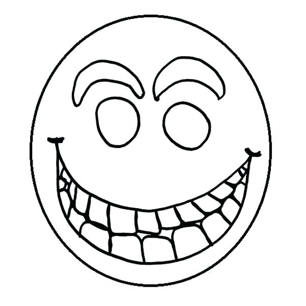 600x600 Smiley Face Coloring Pages Happy Face For Coloring Smiley Face