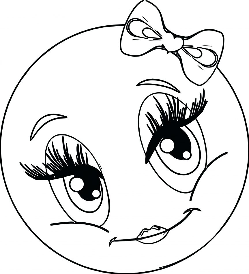 Smiling Face Coloring Page at GetColorings.com | Free ... |Finger Face Happy Coloring