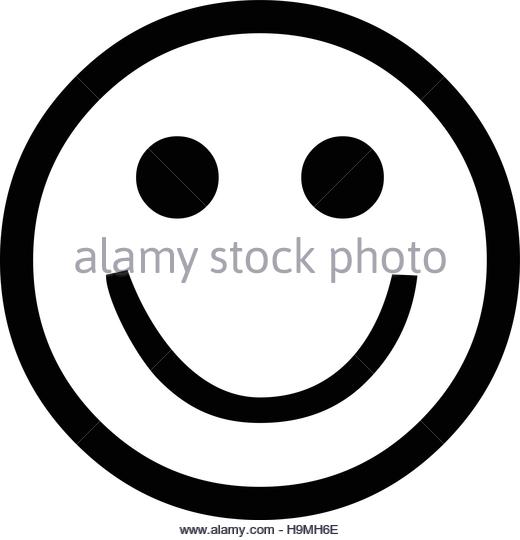 Line Drawing Of Happy Face : Smiley face line drawing at getdrawings free for