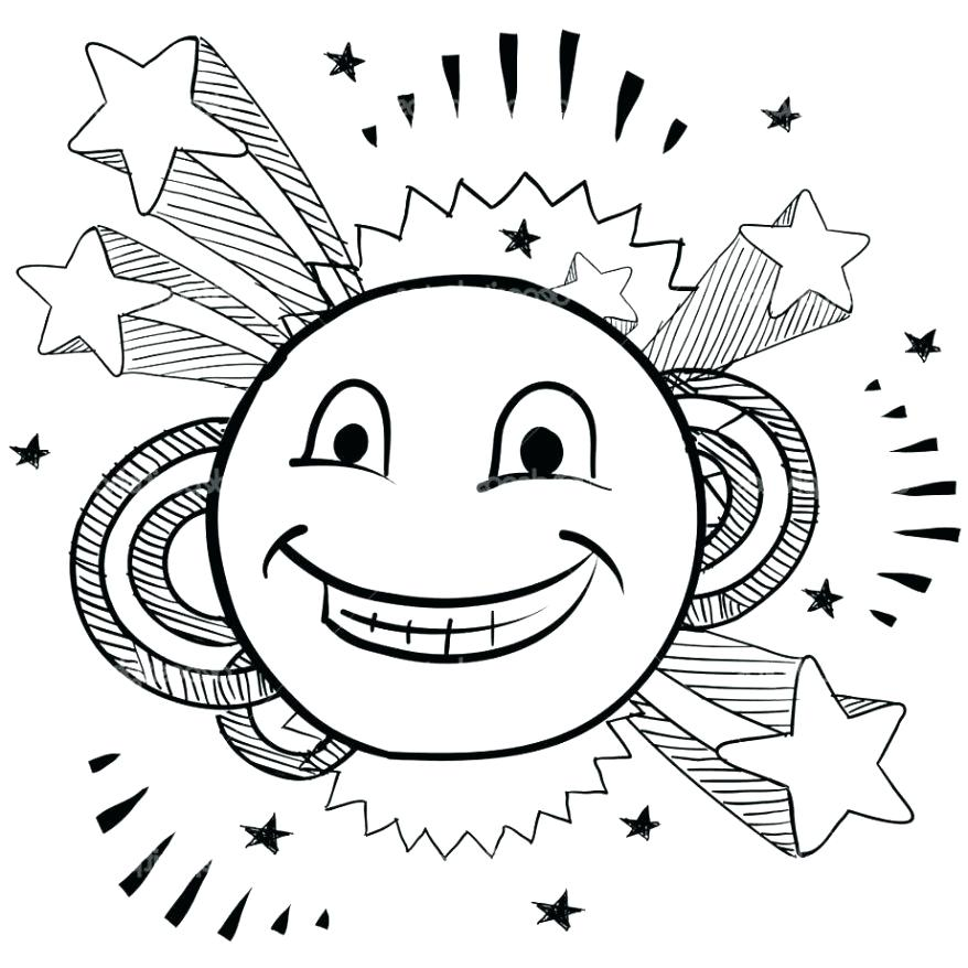 Royalty-Free (RF) Clipart Illustration of a Coloring Page ... |Finger Face Happy Coloring
