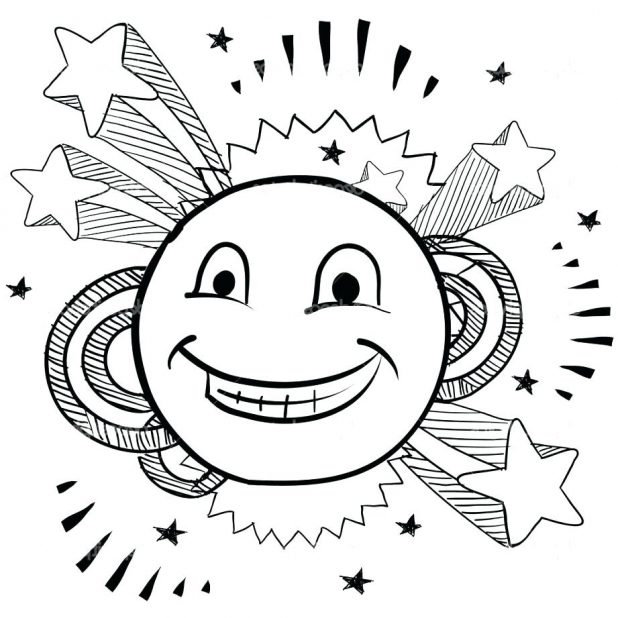 618x618 Coloring Astonishing Face Coloring Pages. Happy Smiley Face