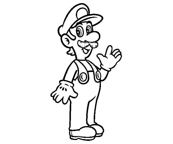600x500 Coloring Pages Luigi Coloring Pages Baby Page Luigi Coloring