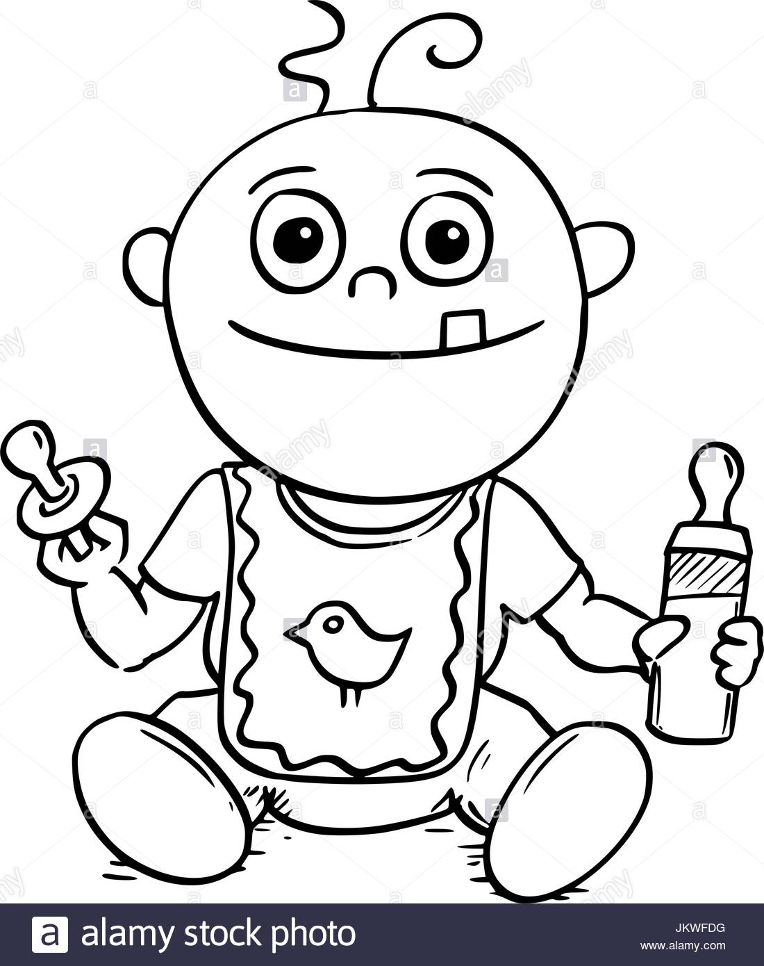1100x1390 Hand Drawing Cartoon Vector Illustration Of Happy Smiling Baby