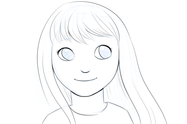 Smiling Face Drawing