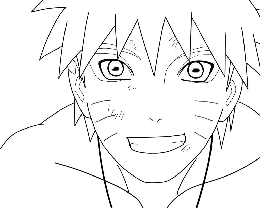 1024x819 Smiling Face Naruto Coloring Pages
